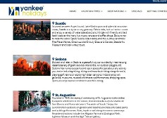 Destination marketing/web copy for client, Yankee Holidays